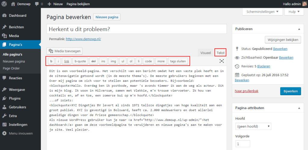 voeg-toe-met-tekst-editor-wordpress-handleiding