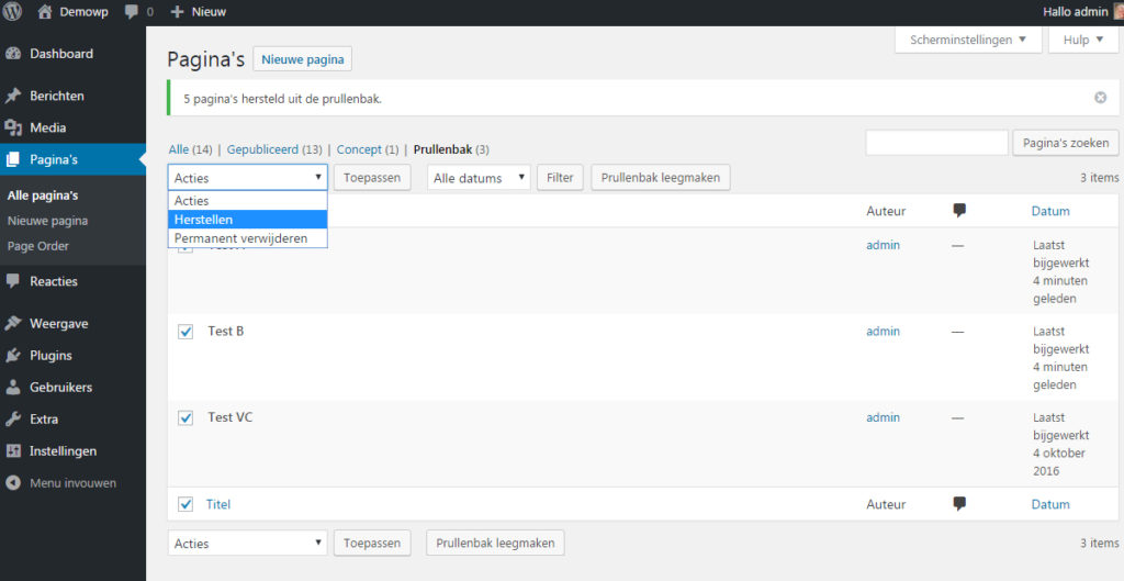 bestaande-content-inhoud-verwijderen-wordpress-handleiding