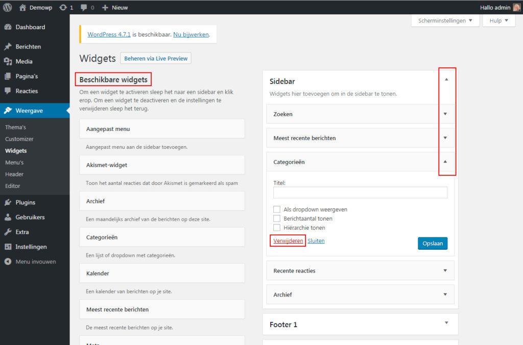 weergave-widgets-wordpress-handleiding