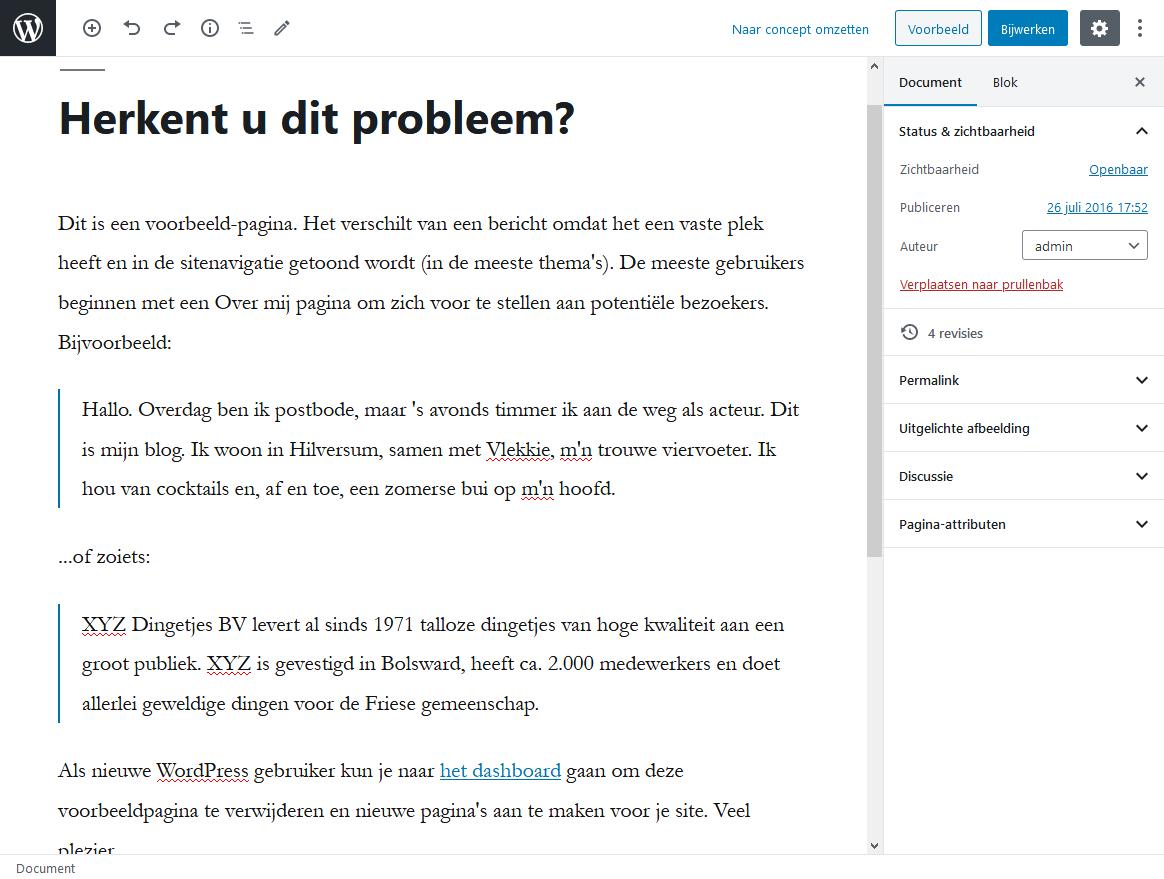 5_4_1_Blokken bewerken met volledig scherm-wordpress-beginnershandleiding