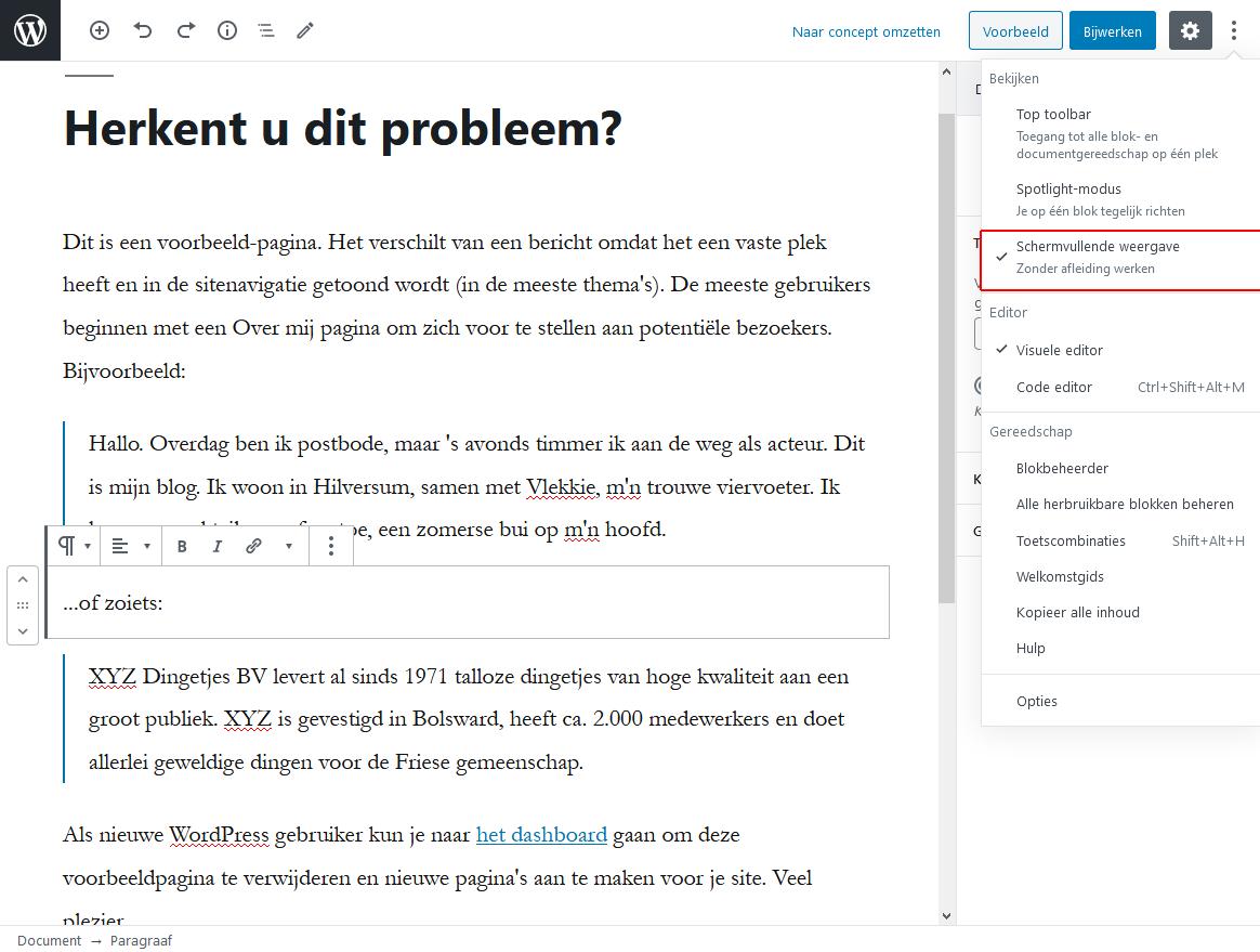 5_4_1_Blokken bewerken met volledig scherm2-wordpress-beginnershandleiding