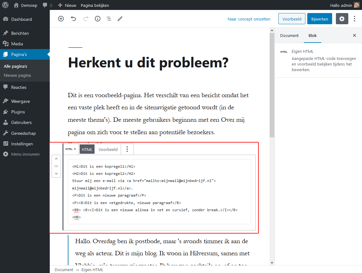 5_4_1_Opmaakblokken-eigen-html-blok-wordpress-beginnershandleiding
