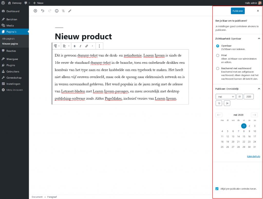 5_4_1_Inhoud-opslaan-publiceren2-wordpress-beginnershandleiding