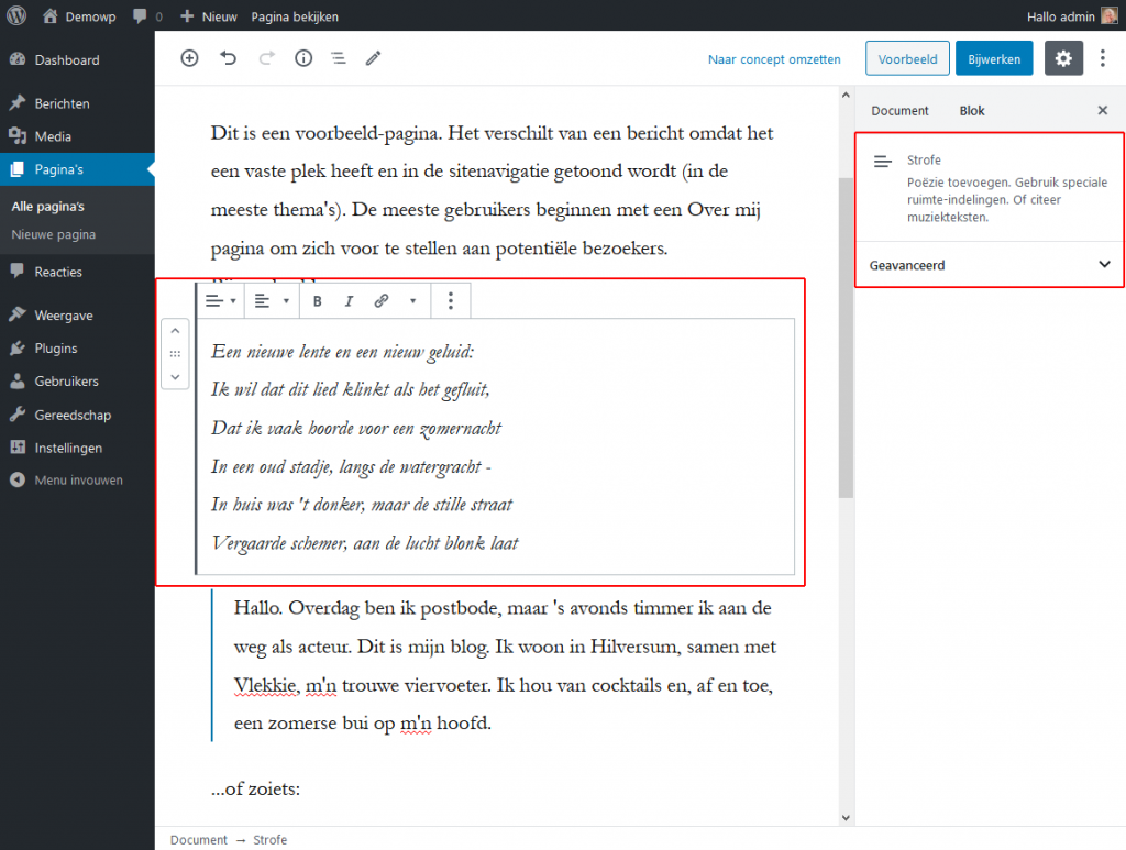 5_4_1_Opmaakblokken-strofe-blok-wordpress-beginnershandleiding