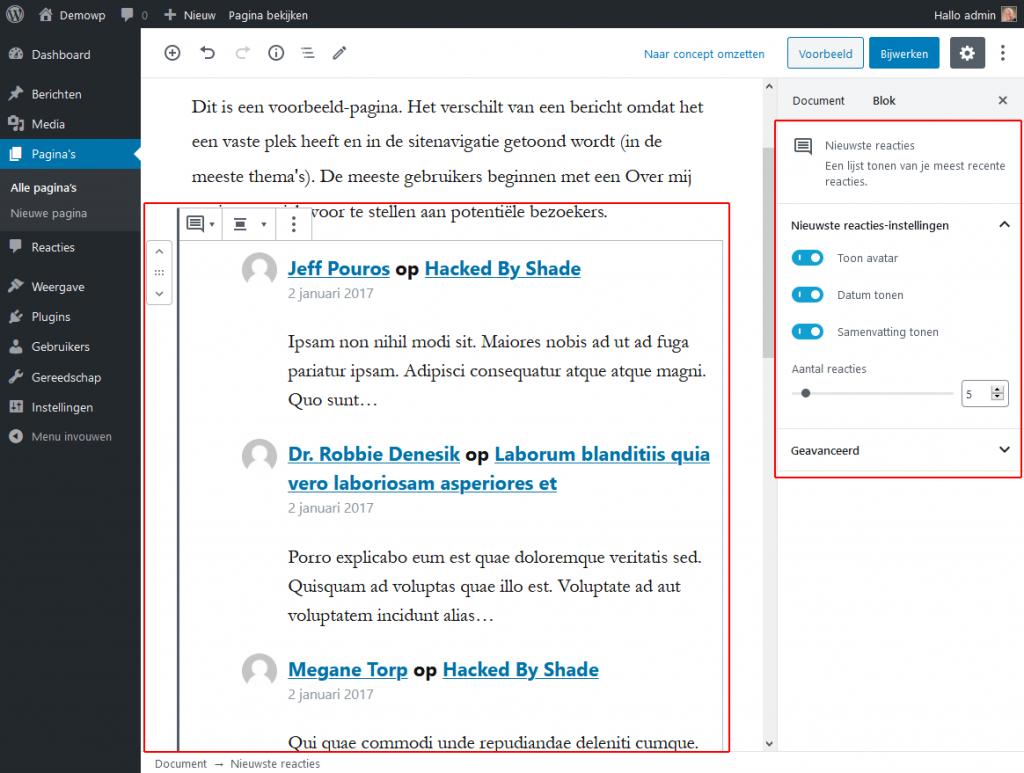 5_4_1_Widgets-nieuwste-reacties-blok-wordpress-beginnershandleiding